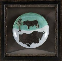 Pablo Picasso Ceramic Plate 1952 Ramie Toros A.R. 161 Edition of 500