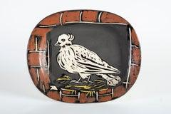 Pablo PIcasso Colombe Mate ceramic Sculpture Plate
