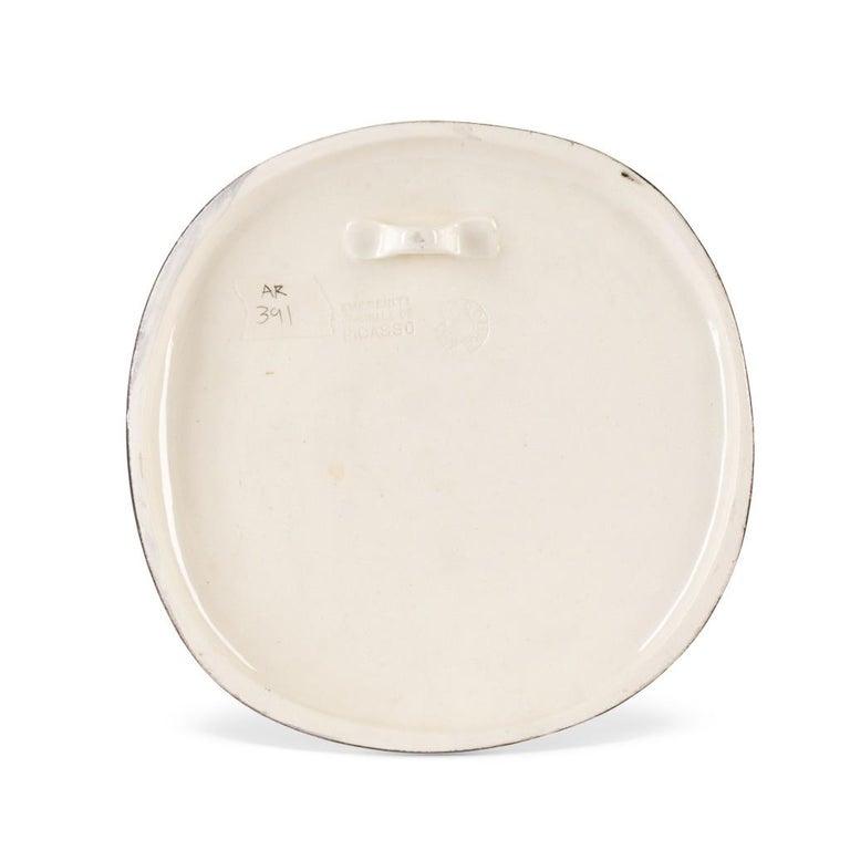 Pablo Picasso Madoura Ceramic Bowl, 'Scéne de Plage,' Ramié 391 - Abstract Impressionist Sculpture by Pablo Picasso