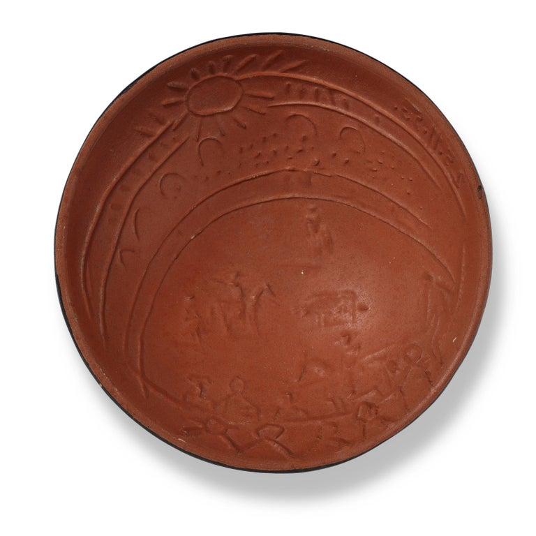 Pablo Picasso Madoura Ceramic Bowl, 'Scène de tauromachie' AR 239 - Sculpture by Pablo Picasso