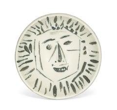 Pablo Picasso Madoura Ceramic Bowl - 'Visage de Face,' Ramié 454
