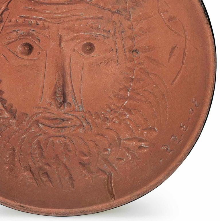 Pablo Picasso Madoura Ceramic Bowl, 'Visage de Faune' AR 257 - Cubist Sculpture by Pablo Picasso