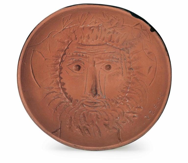 Pablo Picasso Madoura Ceramic Bowl, 'Visage de Faune' AR 257 - Sculpture by Pablo Picasso