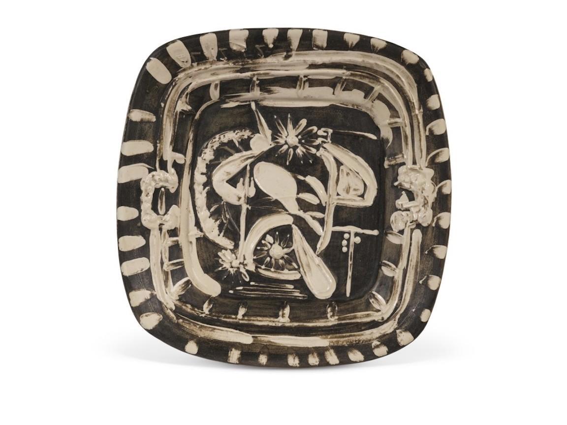 Pablo Picasso Madoura Ceramic Dish, 'Nature Morte á la Cuiller,' Ramié 165