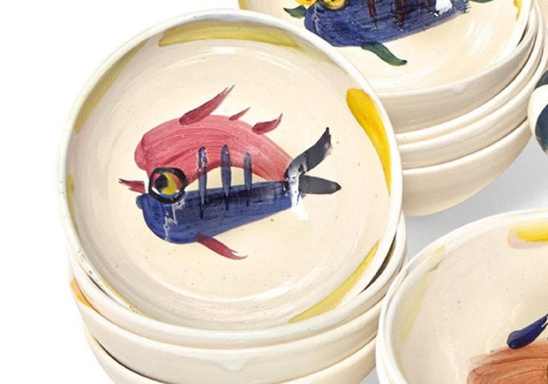 Pablo Picasso Madoura Ceramic Dish Set -Service Poisson, Ramié 3-28 - Abstract Impressionist Sculpture by Pablo Picasso
