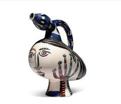 Pablo Picasso Madoura Ceramic Pitcher-'Canard pique-fleurs,' Ramié 117