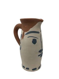 Pablo Picasso Madoura Ceramic Pitcher - Chop Visage , Ramié 434