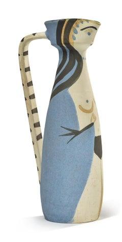 Pablo Picasso Madoura Ceramic Pitcher, 'Femme', Ramié 297
