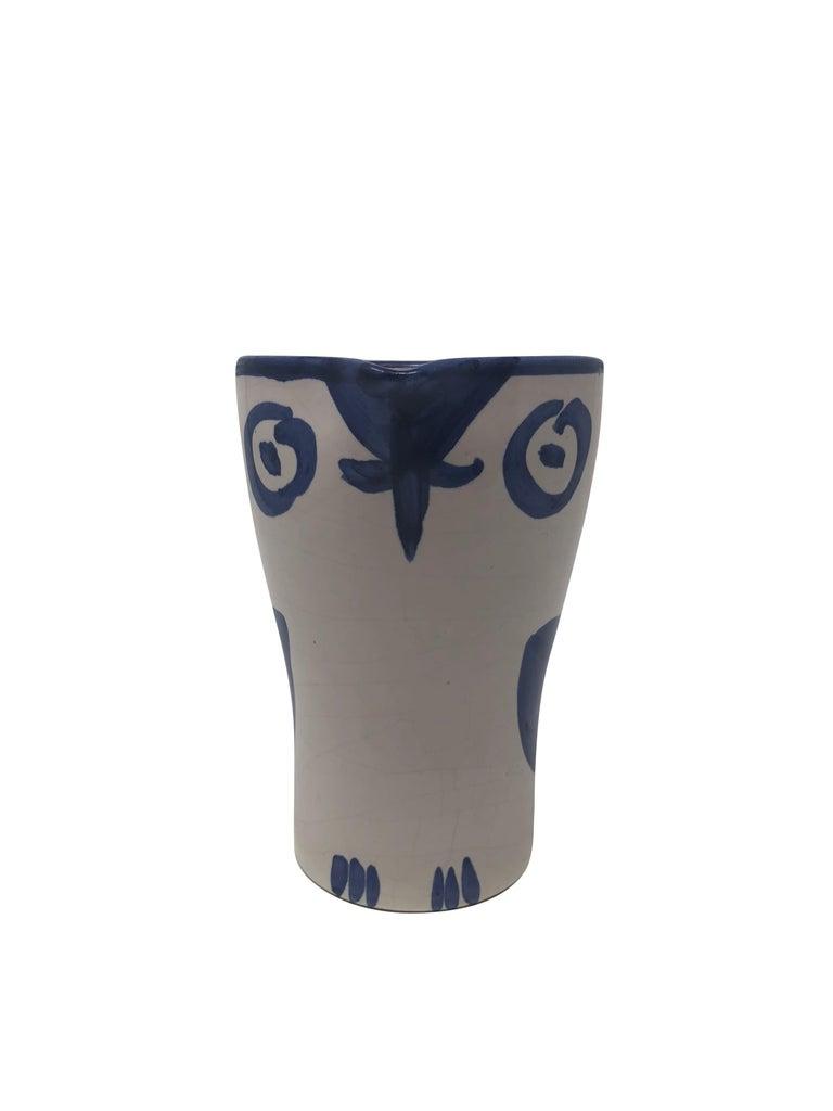 Pablo Picasso Madoura Ceramic Pitcher - Hibou, Ramié 252 - Sculpture by Pablo Picasso