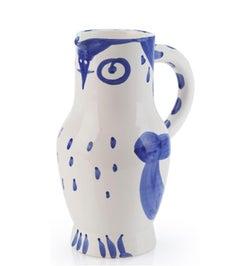 Pablo Picasso Madoura Ceramic Pitcher - Hibou, Ramié 253