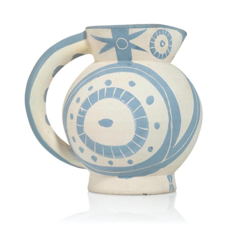 Pablo Picasso Madoura Ceramic Pitcher - 'Petite Chouette,' Ramié 82 - Abstract Impressionist Sculpture by Pablo Picasso