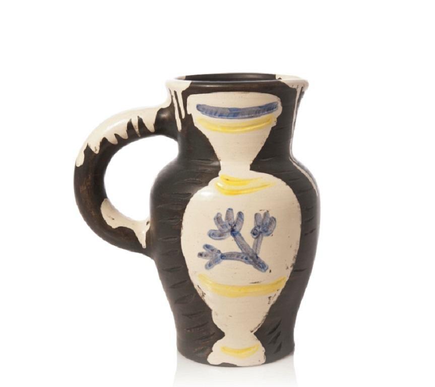 Pablo Picasso Madoura Ceramic Pitcher - 'Pichet au vase,' Ramié 226