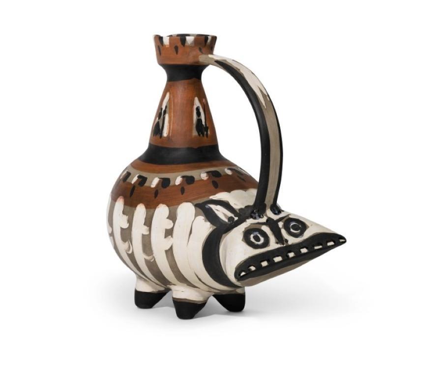 Pablo Picasso Madoura Ceramic Pitcher-'Tarasque,' Ramié 247