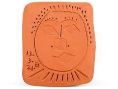 Pablo Picasso Madoura Ceramic Plaque, 'Visage à la Fraise', Ramié 625