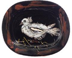 Pablo Picasso Madoura Ceramic Plate- Colombe sur lit de Paille, Ramié 79