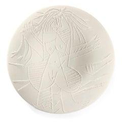 Pablo Picasso Madoura Ceramic Plate 'Femme Échevelée'' Ramié 510