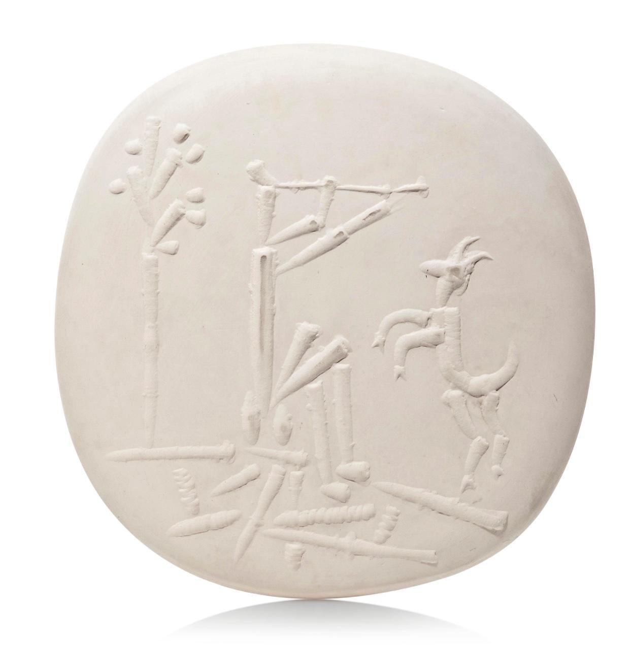 Pablo Picasso Madoura Ceramic Plate 'Joueur de flûte et chèvre' Ramié 381