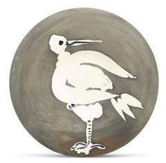 Pablo Picasso Madoura Ceramic Plate 'Oiseau no. 82 ' Ramié 482