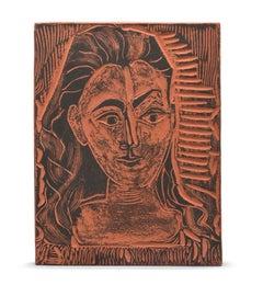 Pablo Picasso Madoura Ceramic Plate 'Petit buste de femme ' Ramié 523