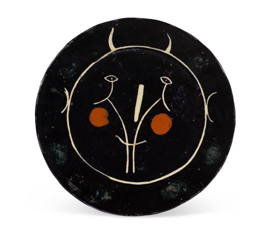 Pablo Picasso Madoura Ceramic Plate - Service Visage Noir, Ramié 35