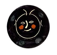 Pablo Picasso Madoura Ceramic Plate - Service Visage Noir, Ramié 38