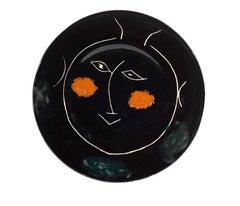 Pablo Picasso Madoura Ceramic Plate - Service Visage Noir, Ramié 39