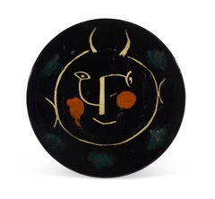 Pablo Picasso Madoura Ceramic Plate - Service Visage Noir, Ramié 40