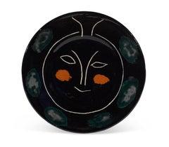 Pablo Picasso Madoura Ceramic Plate - Service Visage Noir, Ramié 45