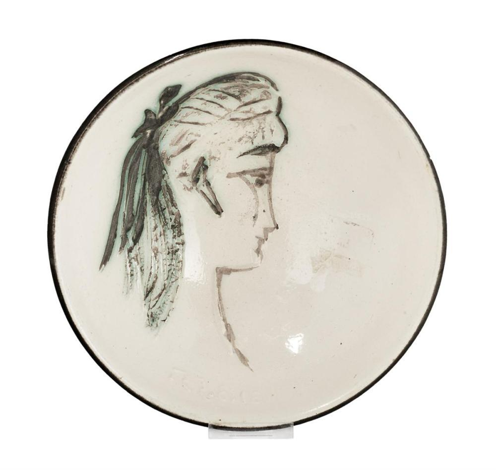 Pablo Picasso Madoura Ceramic Plate 'Sylvette' Ramié 266