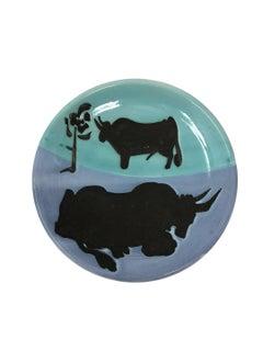 Pablo Picasso Madoura Ceramic Plate 'Toros,' Ramié 161