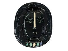 Pablo Picasso Madoura Ceramic Plate - Visage de femme , Ramié 220