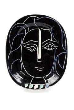 Pablo Picasso Madoura Ceramic Plate 'Visage de femme' Ramié 220