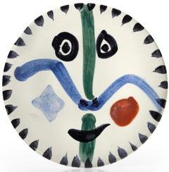 Pablo Picasso Madoura Ceramic Plate 'Visage no. 111' Ramié 476