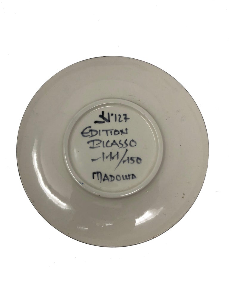 Pablo Picasso Madoura Ceramic Plate - Visage no. 127 , Ramié 478 - Brown Still-Life Sculpture by Pablo Picasso
