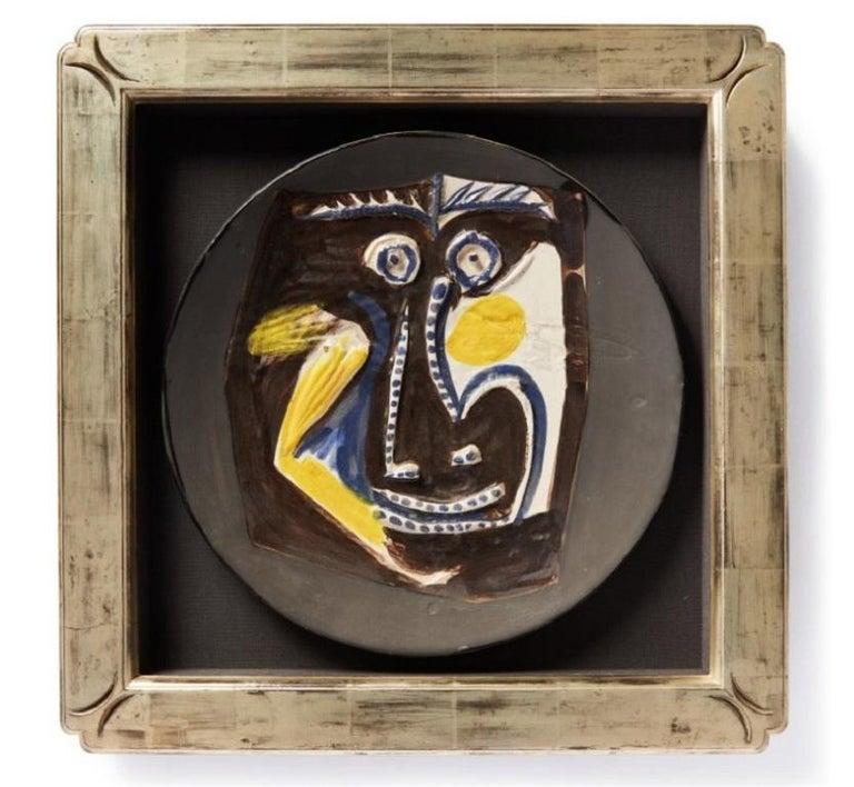 Pablo Picasso Madoura Ceramic Plate 'Visage' Ramié 446 - Abstract Sculpture by Pablo Picasso