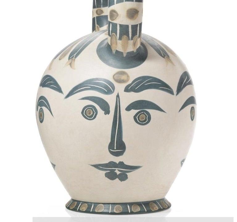Pablo Picasso Madoura Ceramic Vessel 'Vase aztèque aux quatre visage' Ramié 402 - Abstract Sculpture by Pablo Picasso