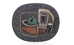 Pablo Picasso Madoura, Nature Morte, Glazed ceramic plate, Ramie 219