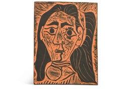 Pablo Picasso Madoura Plaque, 'Femme aux cheveux flous' Ramié 520