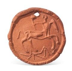 Pablo Picasso Madoura terracotta medallion 'Centaure en profil' Ramié 95