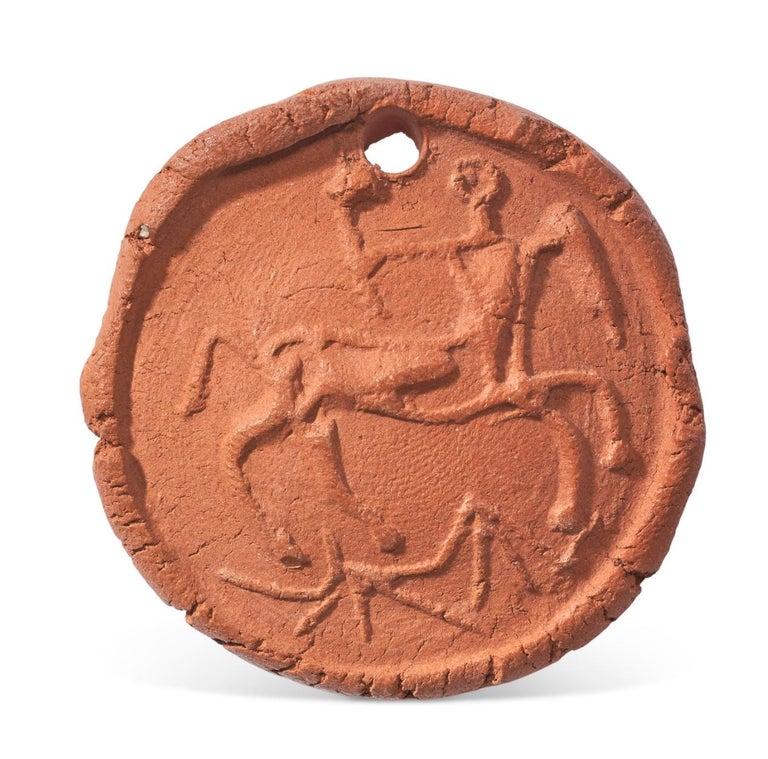 Pablo Picasso Madoura terracotta medallion 'Centaure en profil' Ramié 95 - Sculpture by Pablo Picasso