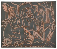 Pablo Picasso Madoura Terracotta Plaque, 'Le déjeuner sur l'herbe', Ramié 517