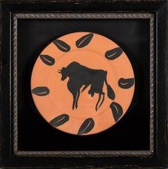 Pablo Picasso Taureau, marli aux feuilles (Bull, Rim with Leaves)