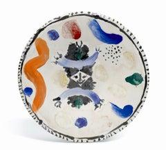 Petit masque central, Pablo Picasso, 1960's, Unique, Design, Plate, Theater