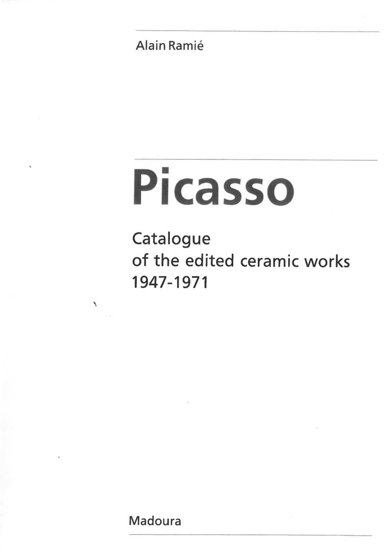 Picador, Pablo Picasso, Ashtray, Design, Sculpture, Ceramic, White, Edition  Picador Ed. 500 pcs 1952 White earthenware clay, oxidized paraffin decoration, white enamel D. 15.2 cm Stamped and inscribed on the back :  Edition Picasso, Edition