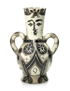 "Picasso Madoura Ceramic Pitcher ""The King"" Vase deux anses hautes, Ramié 141"