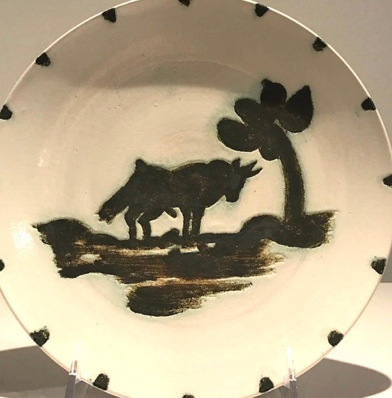 Picasso Madoura Ceramic Ramie 159 Taureau Sous L'arbre - Cubist Sculpture by Pablo Picasso