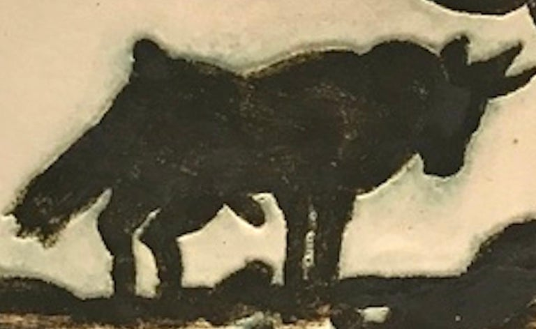 Picasso Madoura Ceramic Ramie 159 Taureau Sous L'arbre - Brown Still-Life Sculpture by Pablo Picasso