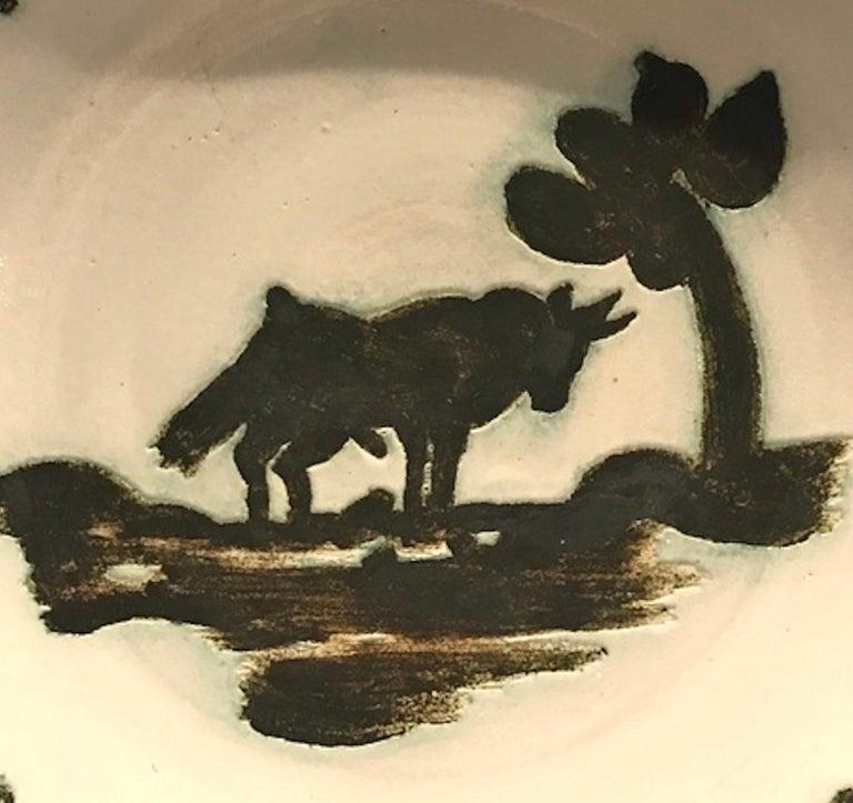 Pablo Picasso Still-Life Sculpture - Picasso Madoura Ceramic Ramie 159 Taureau Sous L'arbre