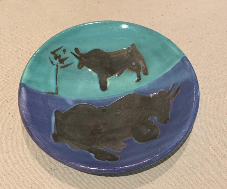 Pablo Picasso Abstract Print - Picasso Madoura Ceramic Ramie 161 Toros