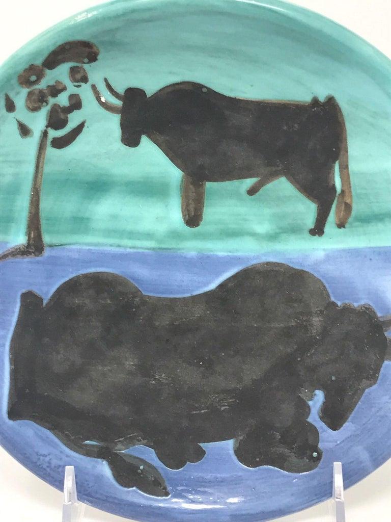 Picasso Madoura Ceramic Ramie 161 Toros - Cubist Print by Pablo Picasso